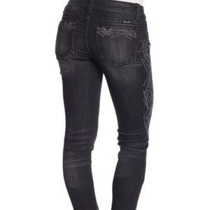 Miss Me Jeans - Miss Me Skinnies with Metallic Embroidery